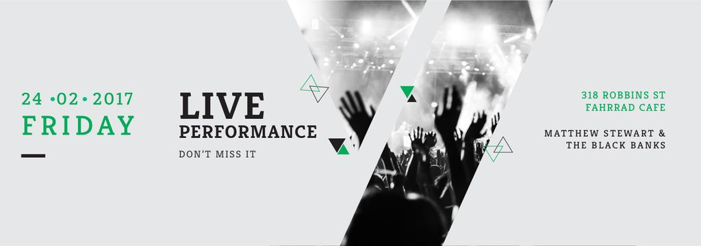 Live Performance Announcement Crowd at Concert — Créer un visuel