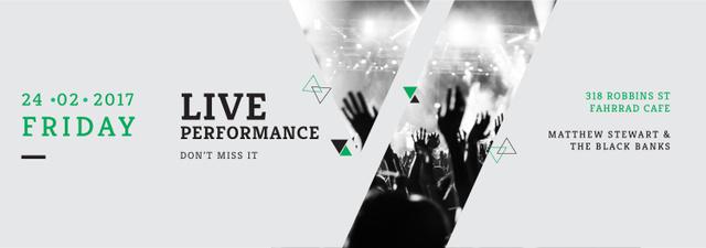 Live Performance Announcement Crowd at Concert Tumblr Modelo de Design