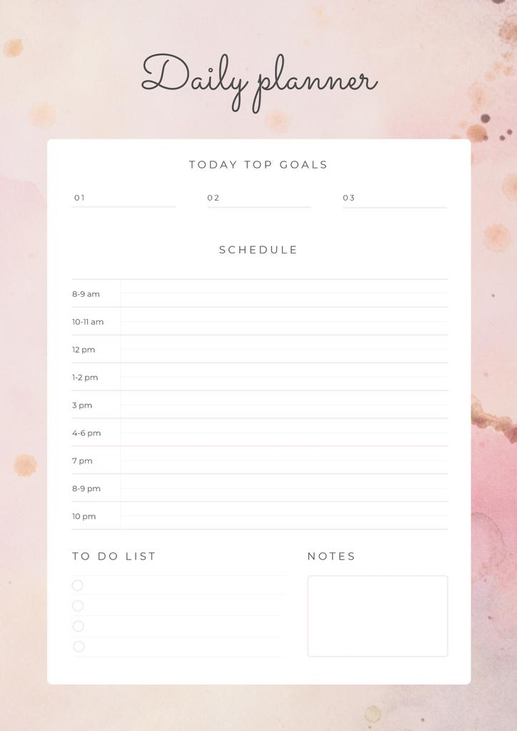 Daily Planner on Pink Texture — Створити дизайн
