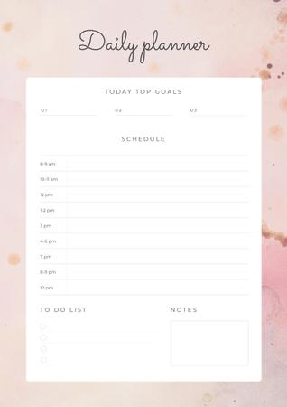 Daily Planner on Pink Texture Schedule Plannerデザインテンプレート