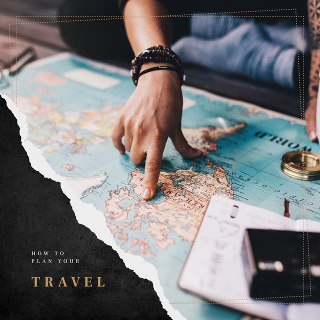 Ontwerpsjabloon van Instagram van Choosing journey destination