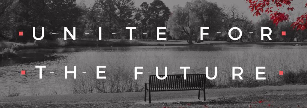 Ecology Quote with Scenic Autumn park — ein Design erstellen