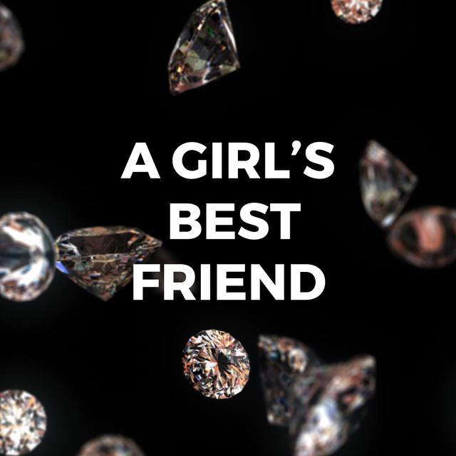 Shiny diamonds falling down Animated Post – шаблон для дизайна