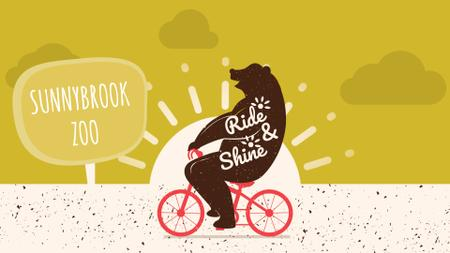 Template di design Zoo Invitation Bear Riding Bicycle Full HD video