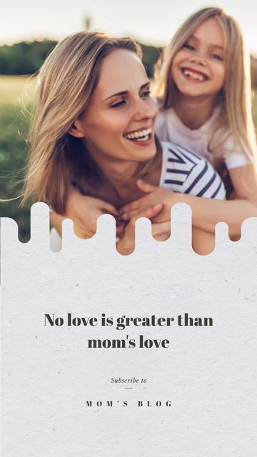 Plantilla de diseño de Smiling girl with her mother Instagram Story