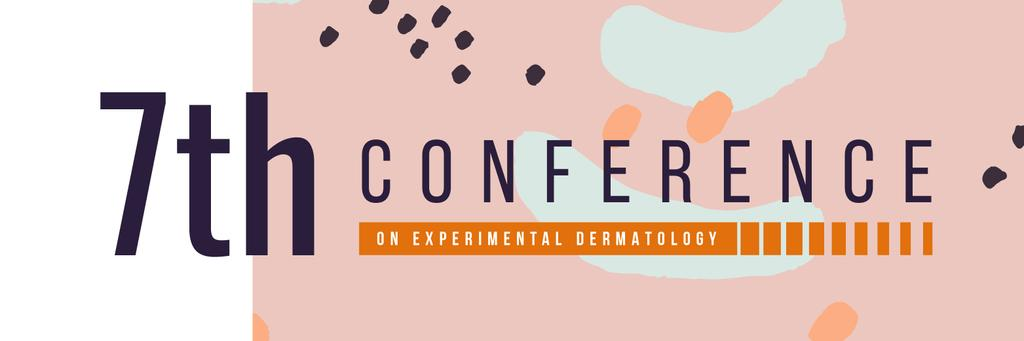 Conference Announcement Abstract Blots and Lines | Twitter Header Template — Modelo de projeto