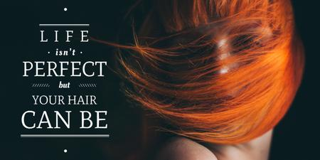 Hair beauty quote poster Image Modelo de Design