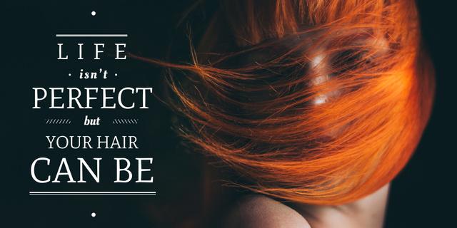 Plantilla de diseño de Hair beauty quote poster Image