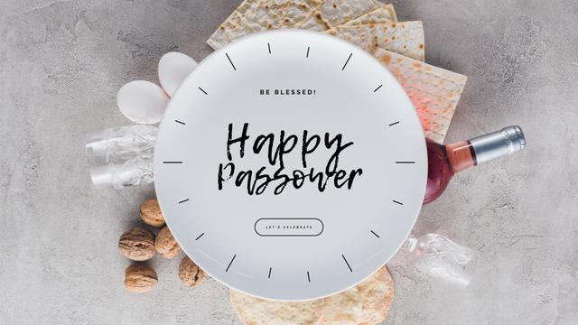 Modèle de visuel Happy Passover holiday dinner - Full HD video