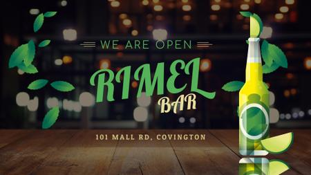 Bar Ad Beer Bottle with Lime Full HD video Modelo de Design