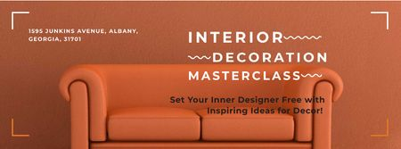 Template di design Masterclass of Interior decoration Facebook cover