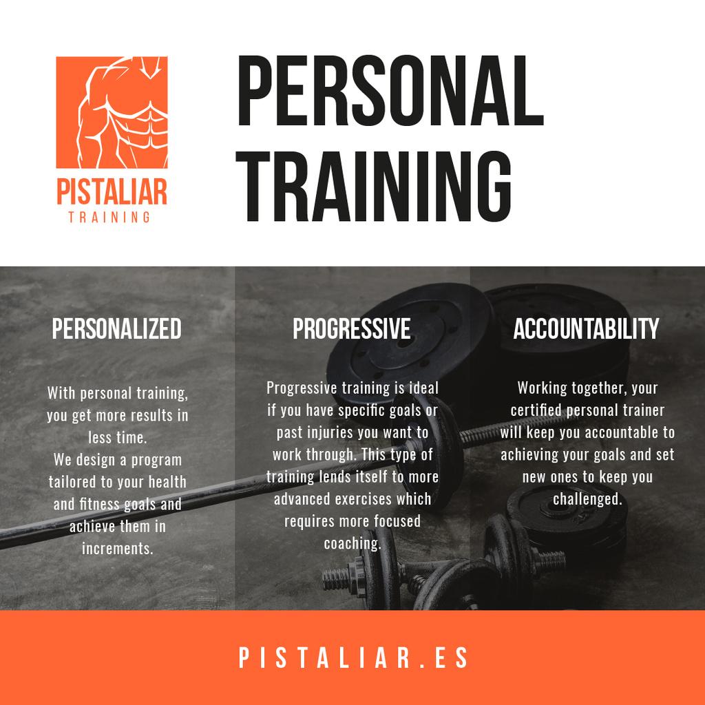 Personal trainig Offer with Sports Equipment — ein Design erstellen