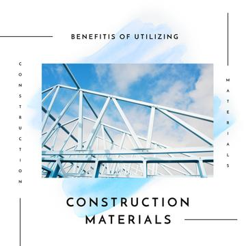 Metal construction on sky background