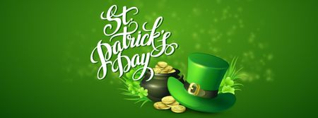 Ontwerpsjabloon van Facebook Video cover van Saint Patrick's Day Celebration Attributes