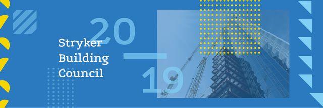 Modèle de visuel Building Council Ad with Crane at Construction Site - Email header