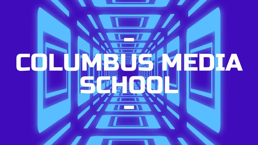Advertisement Moving Through Blue Tunnel — Створити дизайн