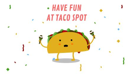 Dancing Taco with Maracas Full HD video Modelo de Design