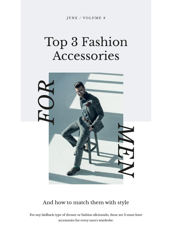 Accessories Guide with Man in stylish suit — Créer un visuel