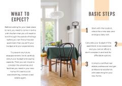 How to rent an apartment Brochure with Cozy light Room