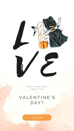 Plantilla de diseño de Valentines Stylish clothes and Accessories Instagram Story