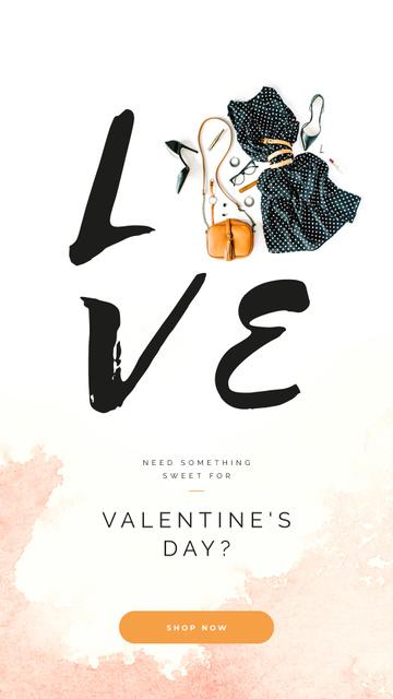 Plantilla de diseño de Valentines Stylish clothes and Accessories Instagram Story