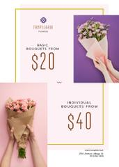 Florist Services Ad White Flowers and Ribbons