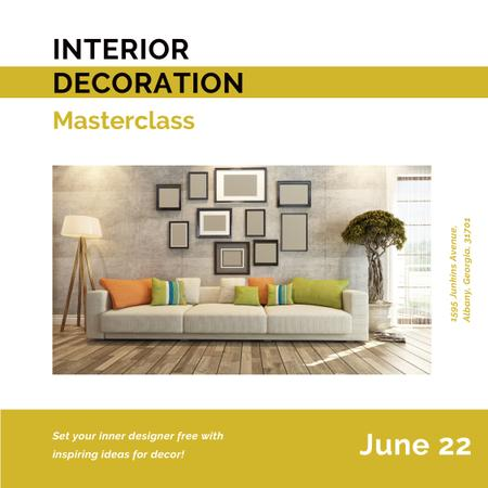 Ontwerpsjabloon van Instagram van Interior decoration masterclass with Cozy Room