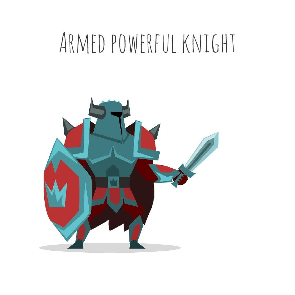 Medieval knight in armor — Create a Design