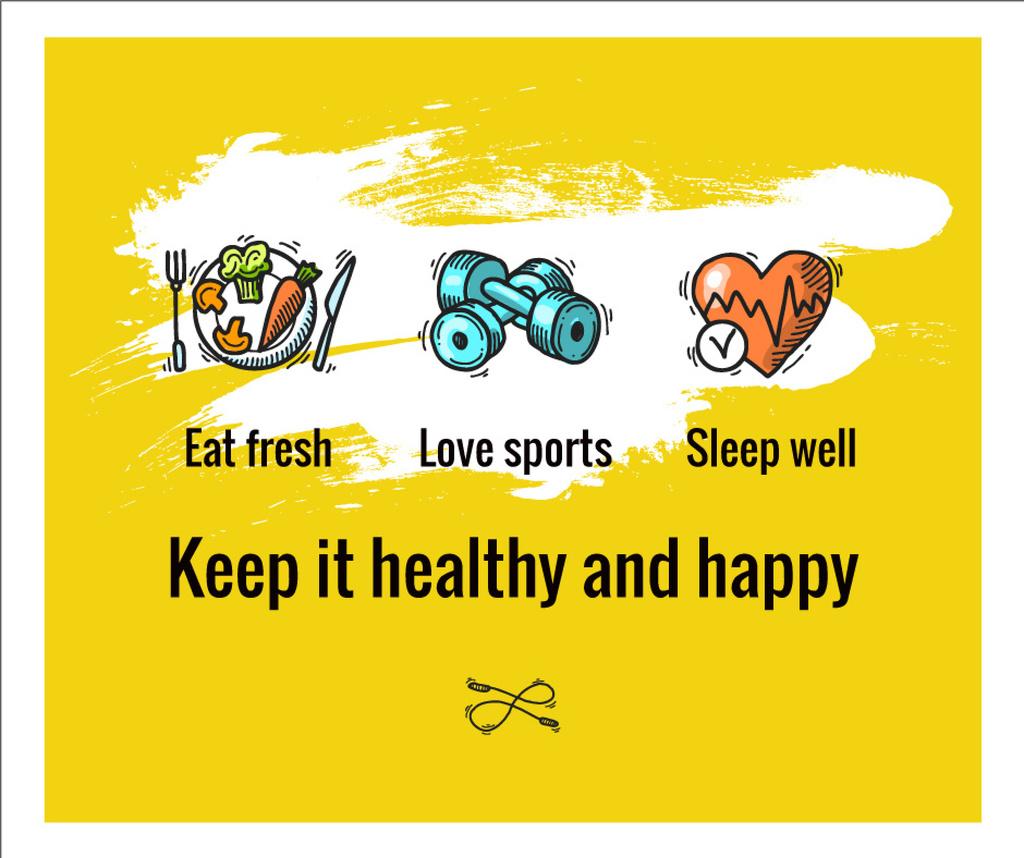 Healthy Lifestyle Attributes Icons — Створити дизайн
