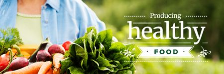Producing healthy food Email header – шаблон для дизайну