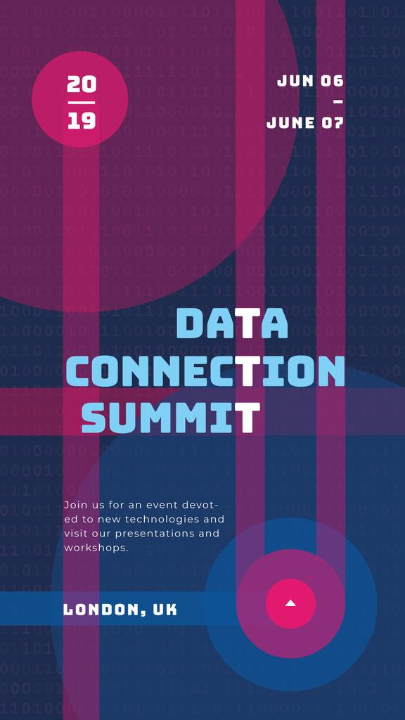 Data Summit Announcement Modern digital pattern — Crear un diseño