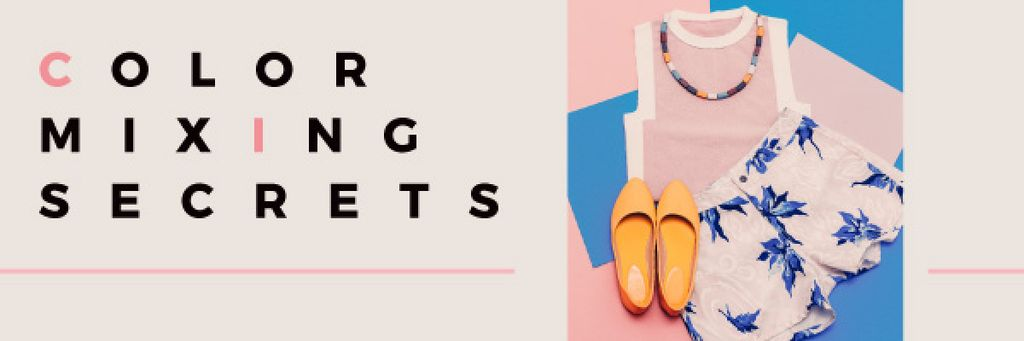 Color mixing secrets banner — Maak een ontwerp