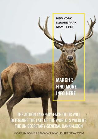 New York Square Park Poster Tasarım Şablonu