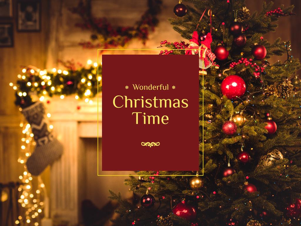 Wonderful Christmas Time — Создать дизайн