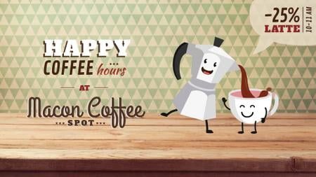 Template di design Coffee Offer Moka Pot Pouring in Cup Full HD video