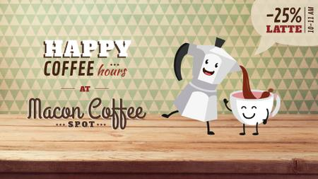 Coffee Offer Moka Pot Pouring in Cup Full HD videoデザインテンプレート