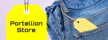 Fashion Sale Ad with Blue Jeans