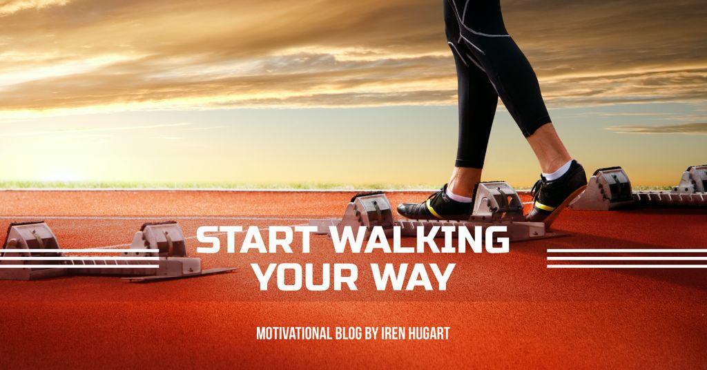 Sports motivation blog banner — Create a Design
