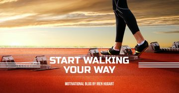 Sports motivation blog banner