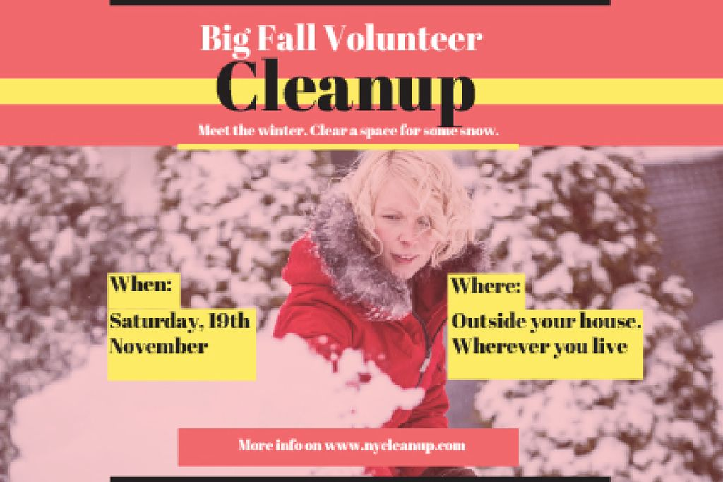 Winter Volunteer clean up — Crear un diseño