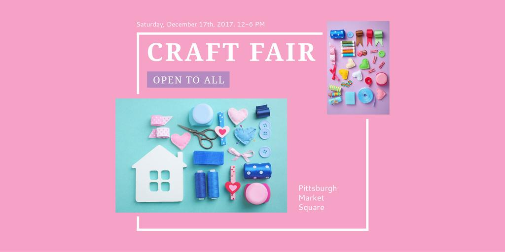 Designvorlage Craft fair Announcement für Twitter