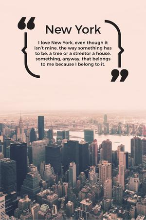 Ontwerpsjabloon van Pinterest van New York Inspirational Quote on City View