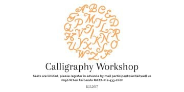 Calligraphy workshop poster