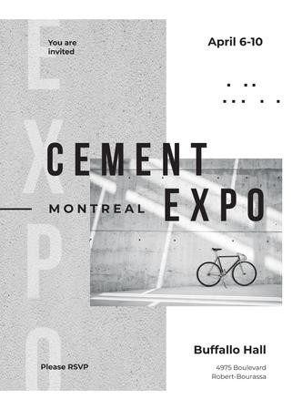 Plantilla de diseño de Bicycle by concrete wall Invitation