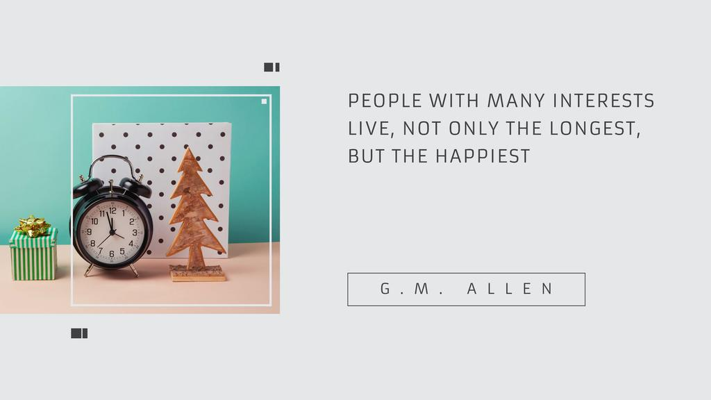 Citation about people with many interests Youtube Design Template