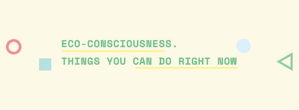 Ontwerpsjabloon van Facebook cover van Eco-consciousness Concept