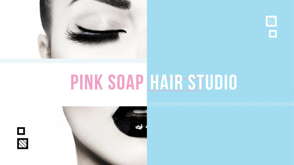 Hair Studio Ad with Attractive Woman — Crear un diseño