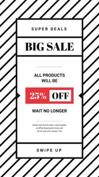 Sale Offer Minimalistic Geometric Pattern | Stories Template