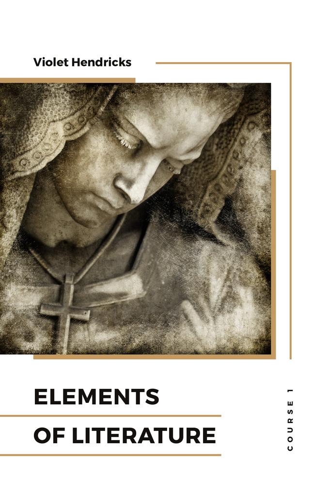 Plantilla de diseño de Literature Courses Marble Sculpture Face Book Cover