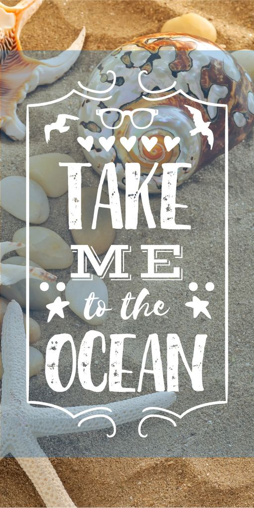 Take me to the ocean poster — Create a Design